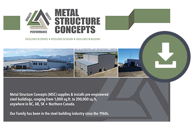 Download the Metal Structure Concepts Brochure